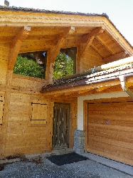 chalet in larch wood